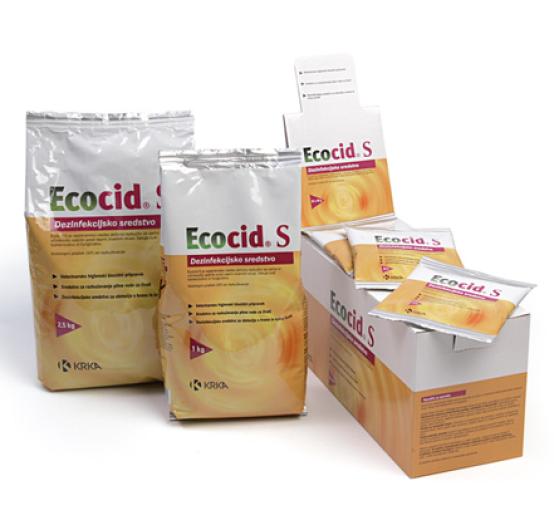 Ecocid S, vodotopni prašek za razkuževanje, 50 g