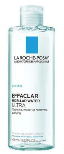 La Roche-Posay Effaclar Ultra Micelarna voda za mastno in občutljivo kožo, 400 ml