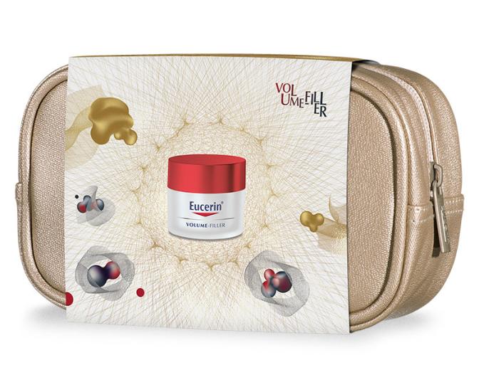 Paket Eucerin Volume-Filler, dnevna nega za normalno do mešano kožo, 50 ml + darilo