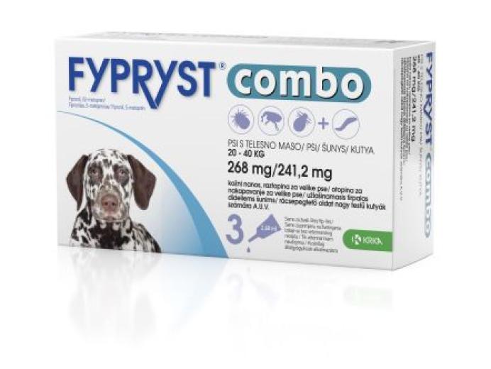 Fypryst Combo 268 mg/241,2 mg, kožni nanos - za velike pse, 3 pipete