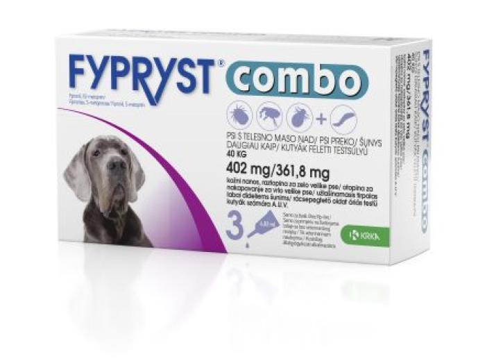 Fypryst Combo 402 mg/361,8 mg, kožni nanos - za zelo velike pse, 3 pipete