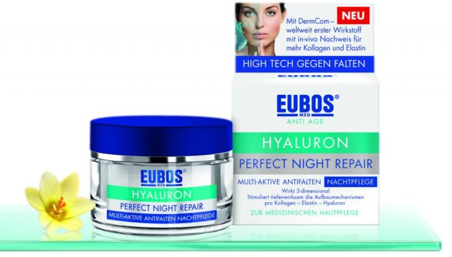 Eubos Anti-age hyaluron perfect night repair, nočna krema proti gubam, 50 ml