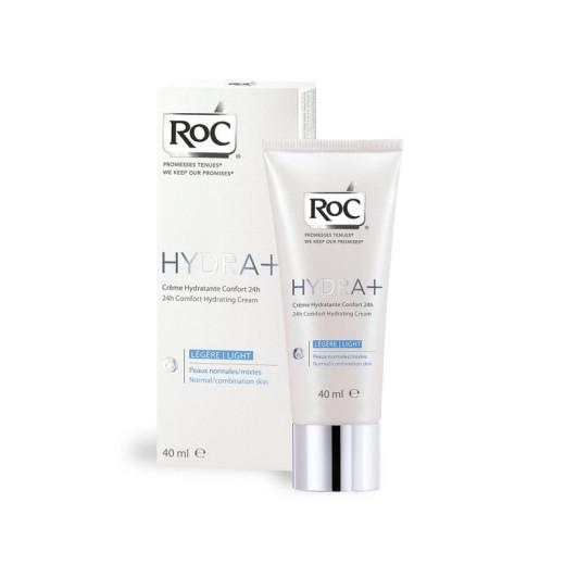 RoC Hydra+ 24h, vlažilna krema za normalno do mešano kožo, 40 ml