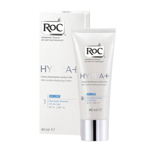 RoC Hydra+ 24h, vlažilna krema za vse tipe kože - ZF 15, 40 ml