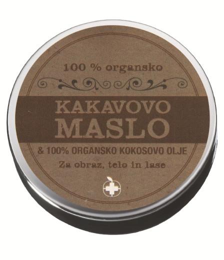 100 % organsko kakavovo maslo s kokosovim oljem, 100 ml