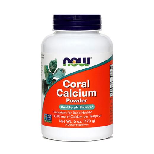 NOW Koralni kalcij v prahu, 170 mg