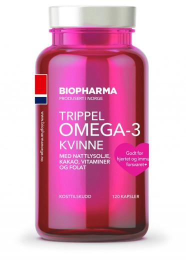 Biopharma Trippel Omega-3, 120 kapsul