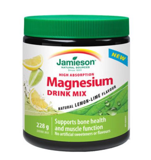 Jamieson Magnezij, prašek za pripravo napitka z okusom limone in limete, 228 g