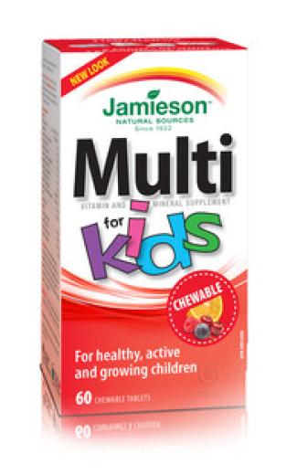 Jamieson Multivitamini in Minerali za otroke, 60 bonbonov