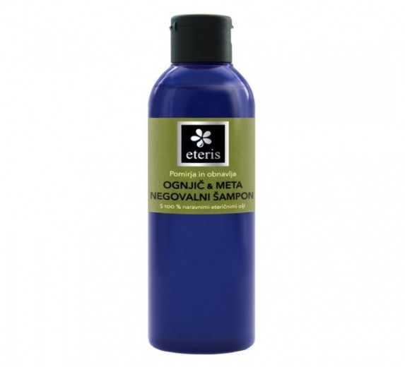 Eteris Negovalni šampon za lase - ognjič in meta, 200 ml