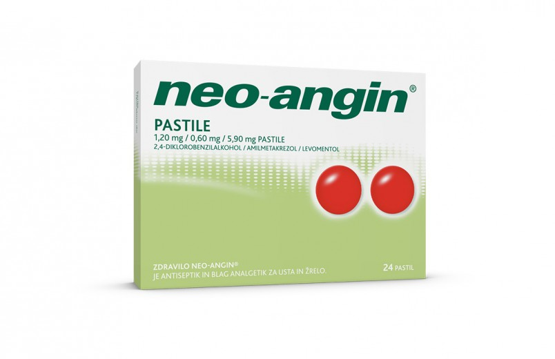 Neo-angin 1,20 mg/0,60 mg/5,90 mg, 24 pastil