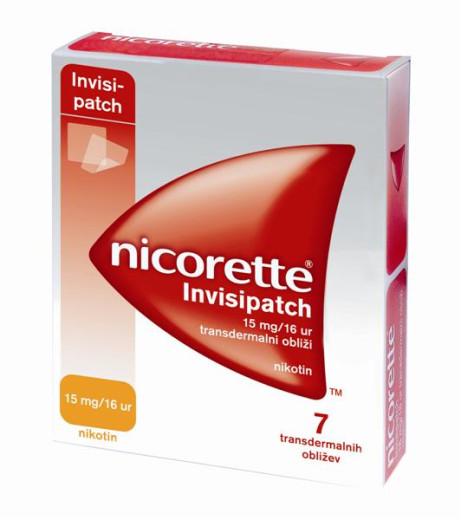 Nicorette Invisipatch 15 mg/16 ur, 7 transdermalnih obližev