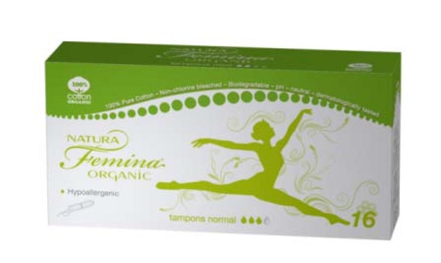 Natura Femina higienski tamponi Organic normal