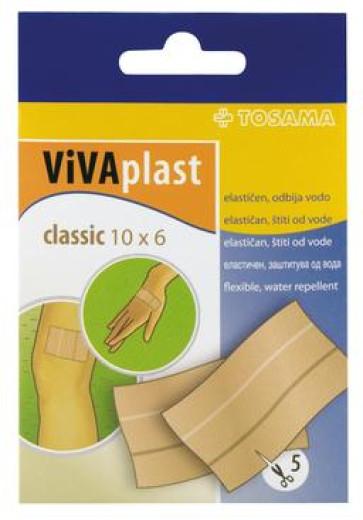 Vivaplast classic 10 x 6 cm, 5 kosov