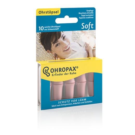 Ohropax Soft, penasti ušesni čepki - 5 parov