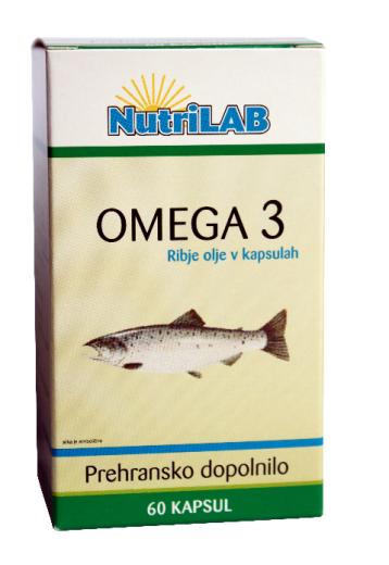 Nutrilab Omega 3 500 mg, 60 kapsul