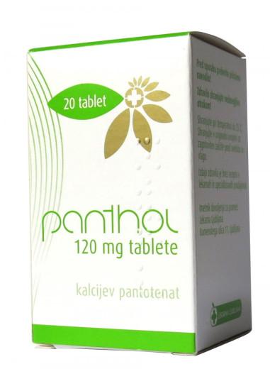 Panthol 120 mg, 20 tablet