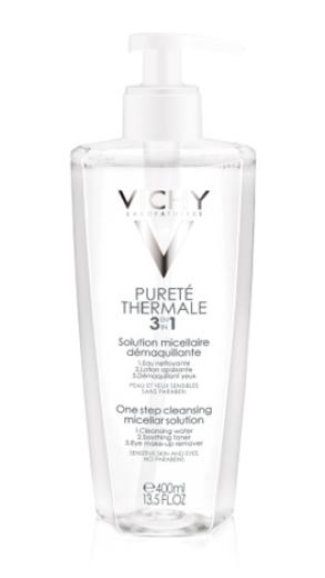 Vichy Purete Thermale, micelarni losjon za odstranjevanje ličil 3 v 1, 400 ml