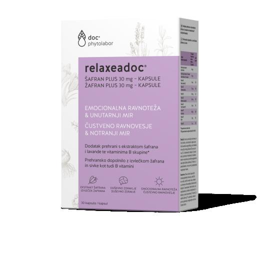 Relaxeadoc Žafran Plus 30 mg, 30 kapsul