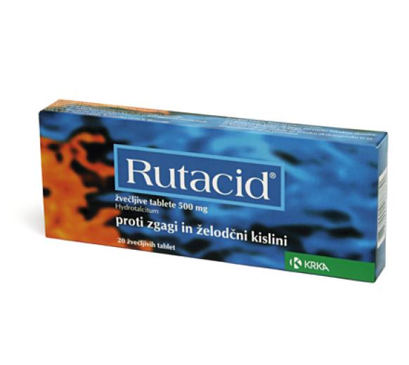 Rutacid 500 mg, 20 žvečljivih tablet