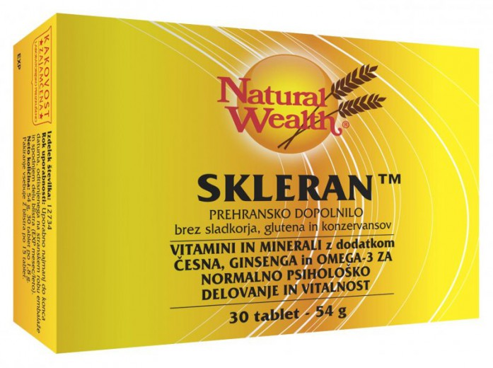 Natural Wealth Skleran, 30 tablet