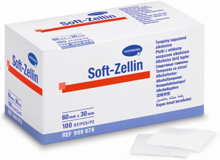 Soft-Zellin, alkoholni zloženci, 100 kosov