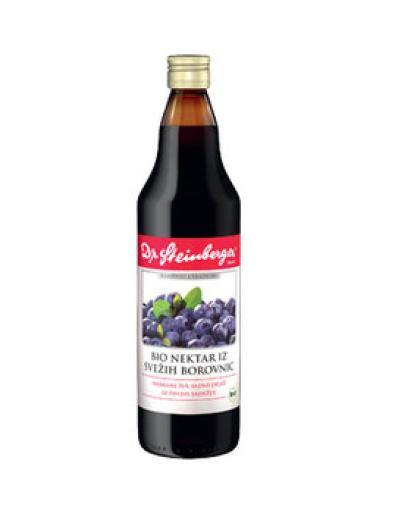 Dr. Steinberger, Bio nektar iz svežih borovnic, sok 750 ml
