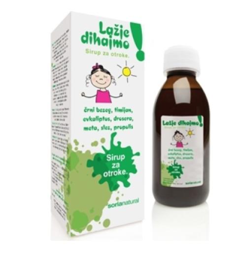 Soria Natural Lažje dihajmo, sirup za otroke, 150 ml