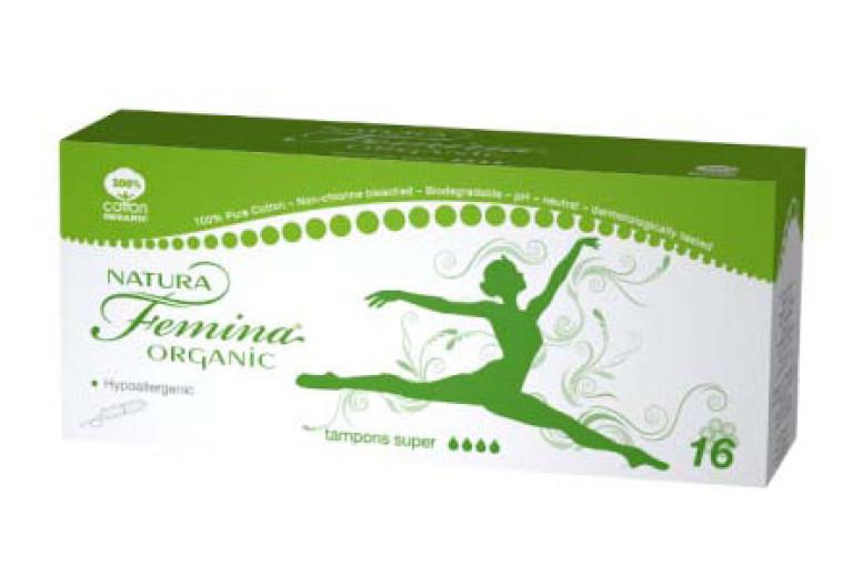 Natura Femina higienski tamponi Organic super