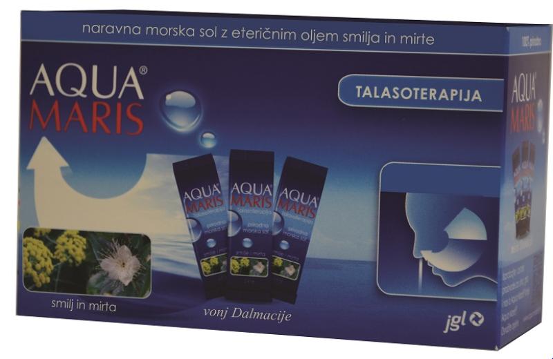 Aqua Maris Talasoterapija, naravna morska sol z eteričnimi olji, 30 vrečk
