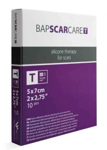 Bapscarcare T, silikonski obliž, 5 X 7 cm, 1 kos