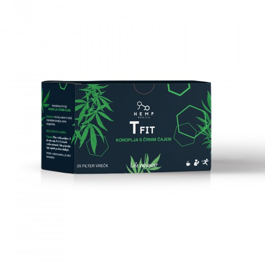 Hemp Medica T Fit čaj, 25 filter vrečk