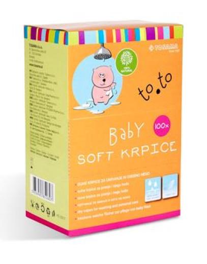 To.To Baby Soft krpice za umivanje,100 kosov