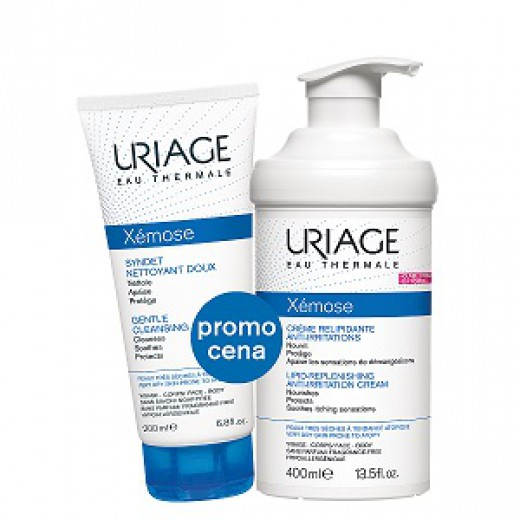 Uriage Xemose emolientna krema 400 ml + Uriage Xemose sindet, 200 ml