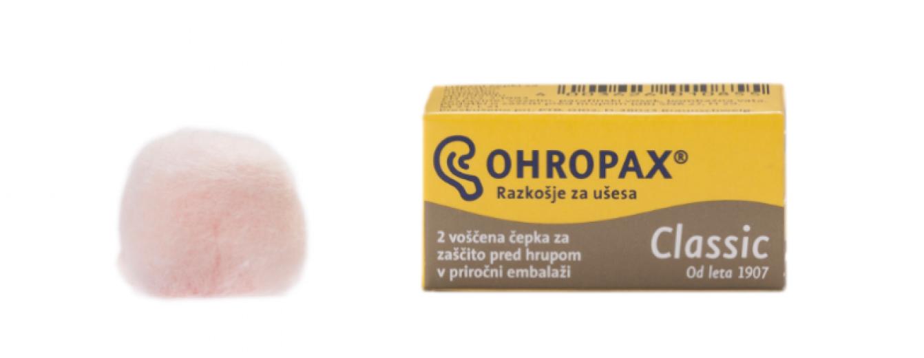 Ohropax, voščeni ušesni čepki - 1 par