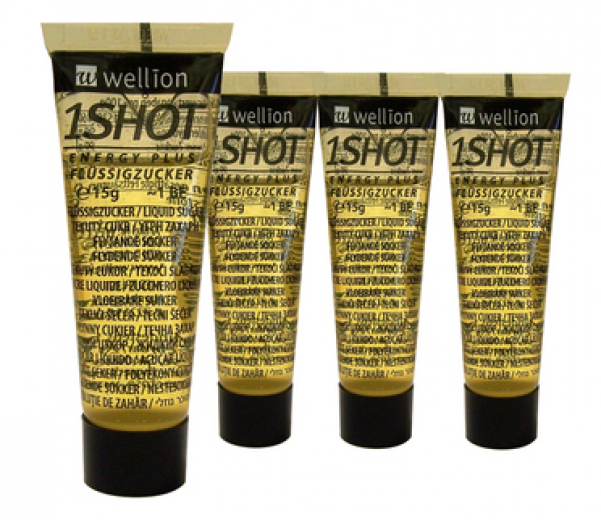 Wellion 1 Shot invertni sladkorni sirup, tuba, 4x15 g