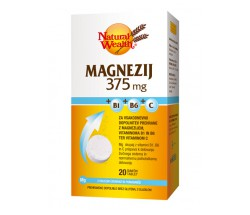 Natural Wealth Magnezij 375 mg, 20 šumečih tablet