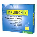 Daleron C 500 mg/20 mg, zrnca za peroralno raztopino, 10 vrečk