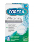Corega Dental White, tablete za čiščenje protez, 30 tablet