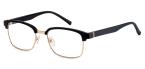 Filtral bralna očala F45620 (+1,0), črna - zlata