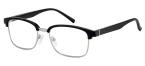 Filtral bralna očala F45632 (+1,0), črna - srebrna