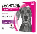 Frontline Tri-Act, kožni nanos- za pse 20 - 40 kg, pipeta 3 X 4 ml