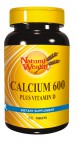 Natural Wealth Kalcij 600 + Vitamin D, 60 tablet