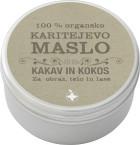 100 % organsko karitejevo maslo - kakav in kokos, 100 ml