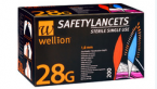 Wellion SafetyLancets 28G, 200 lancet