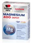 Doppelherz System Magnezij 400 Depot s počasnim sproščanjem, 30 tablet