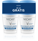 Vichy Mineralni dezodorant roll-on, 2x50 ml