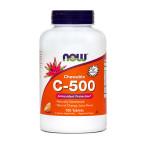 NOW Vitamin C 500 mg, 100 žvečljivih tablet