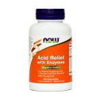 Now Prebavni encimi, 60 žvečljivih tablet