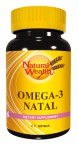 Natural Wealth Omega 3 Natal, 60 mehkih kapsul